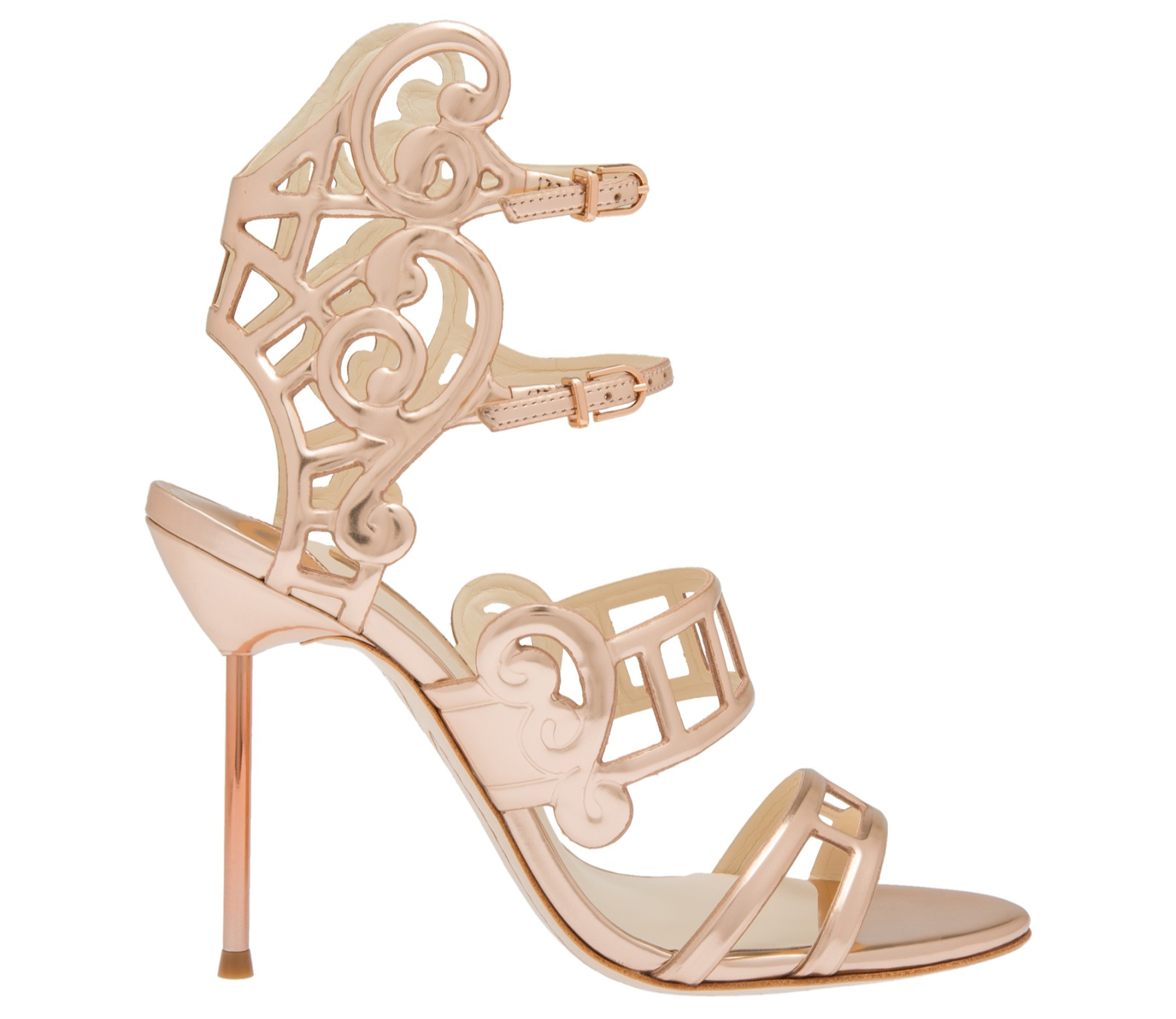 Sophia Webster Birdie Cutout Heels The London Girl High Glamour Suede Inspired By Birdcages And Front Porches These Exude Tropical Available In Black Rose Gold Showcasing Websters