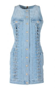 Balmain Lace Up Mini Dress