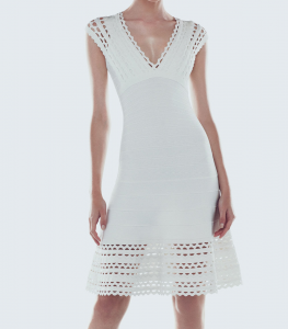 Herve Leger White Dress