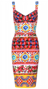 Dolce Gabbana Mambo Silk Dress