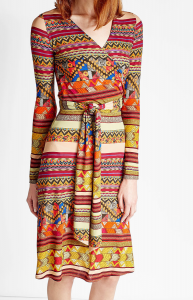 Etro Printed Wrap Dress