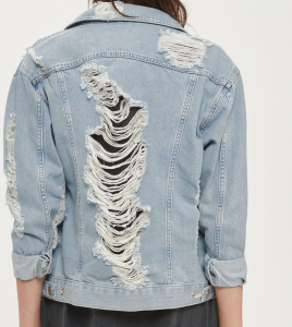Topshop Distressed Denim Jacket