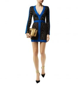 Balmain Lace Up Dress